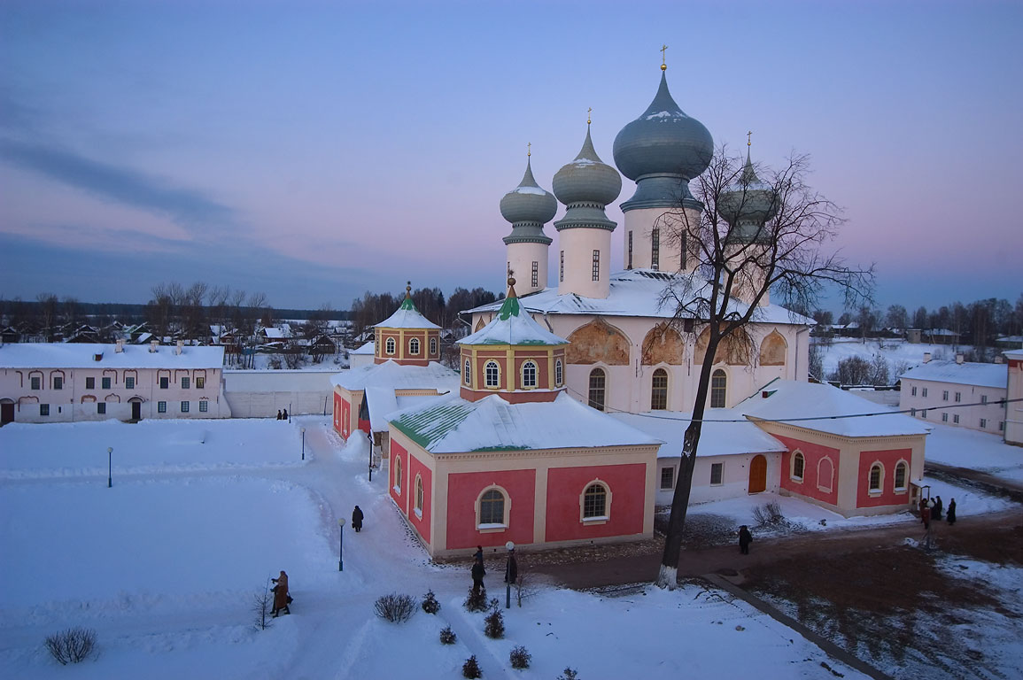 Uspensky Monastery, view from bell tower. Tikhvin, Leningrad Region, Russia