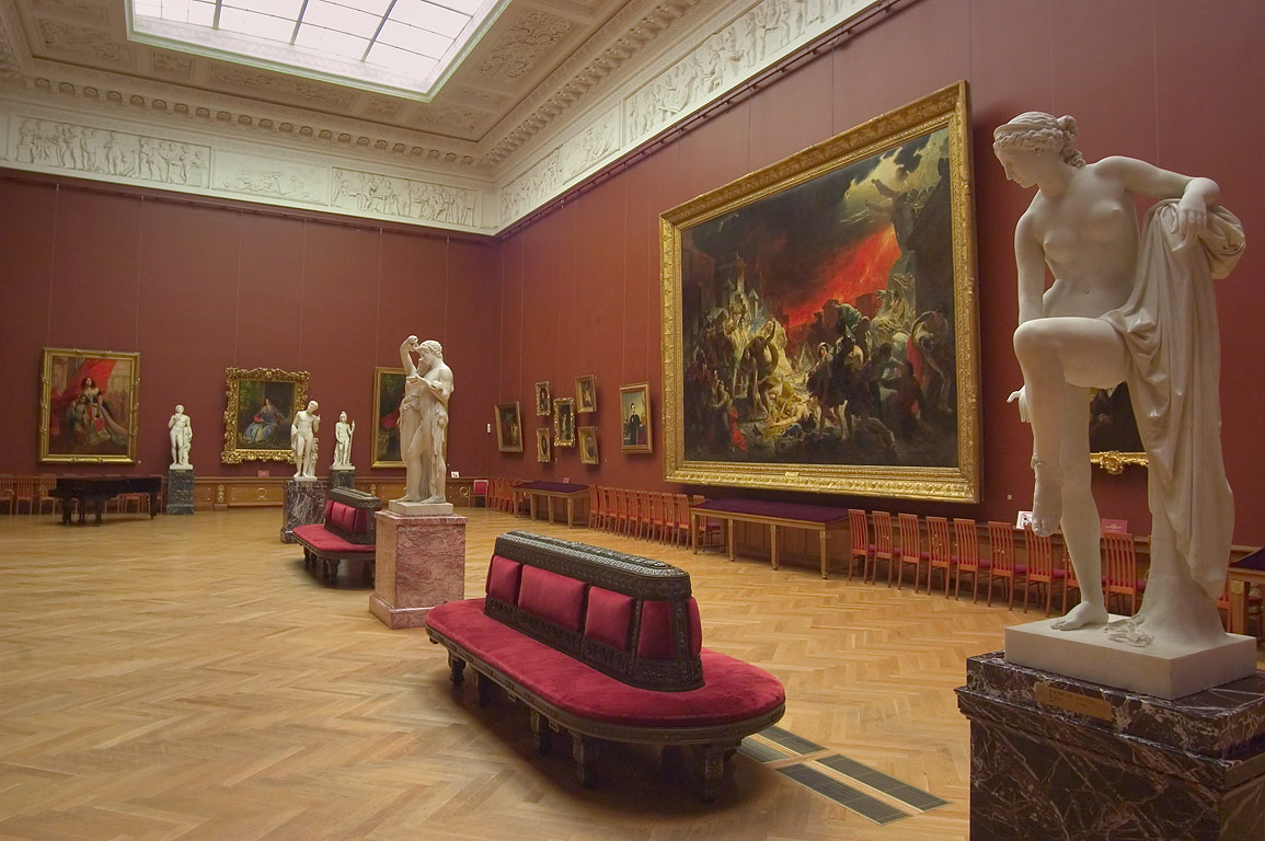 Carl Briullov hall in Russian Museum. St.Petersburg, Russia