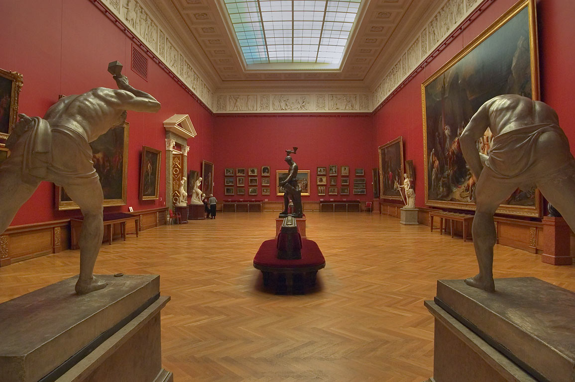 A hall in Russian Museum. St.Petersburg, Russia