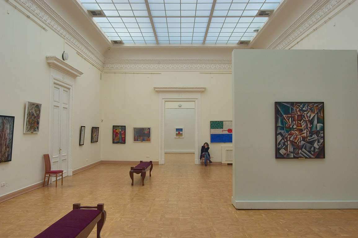 A hall of modern art in Benois Building (Corpus...Russian Museum. St.Petersburg, Russia