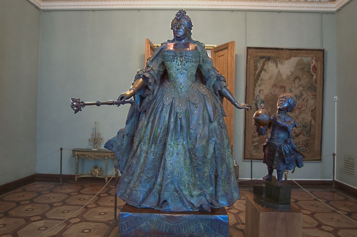 A statue of Catherine the Great in Russian Museum. St.Petersburg, Russia