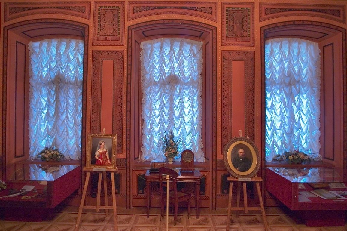 Glinka room in Sheremetyev Palace (Fontanny Dom, Fountain House). St.Petersburg, Russia