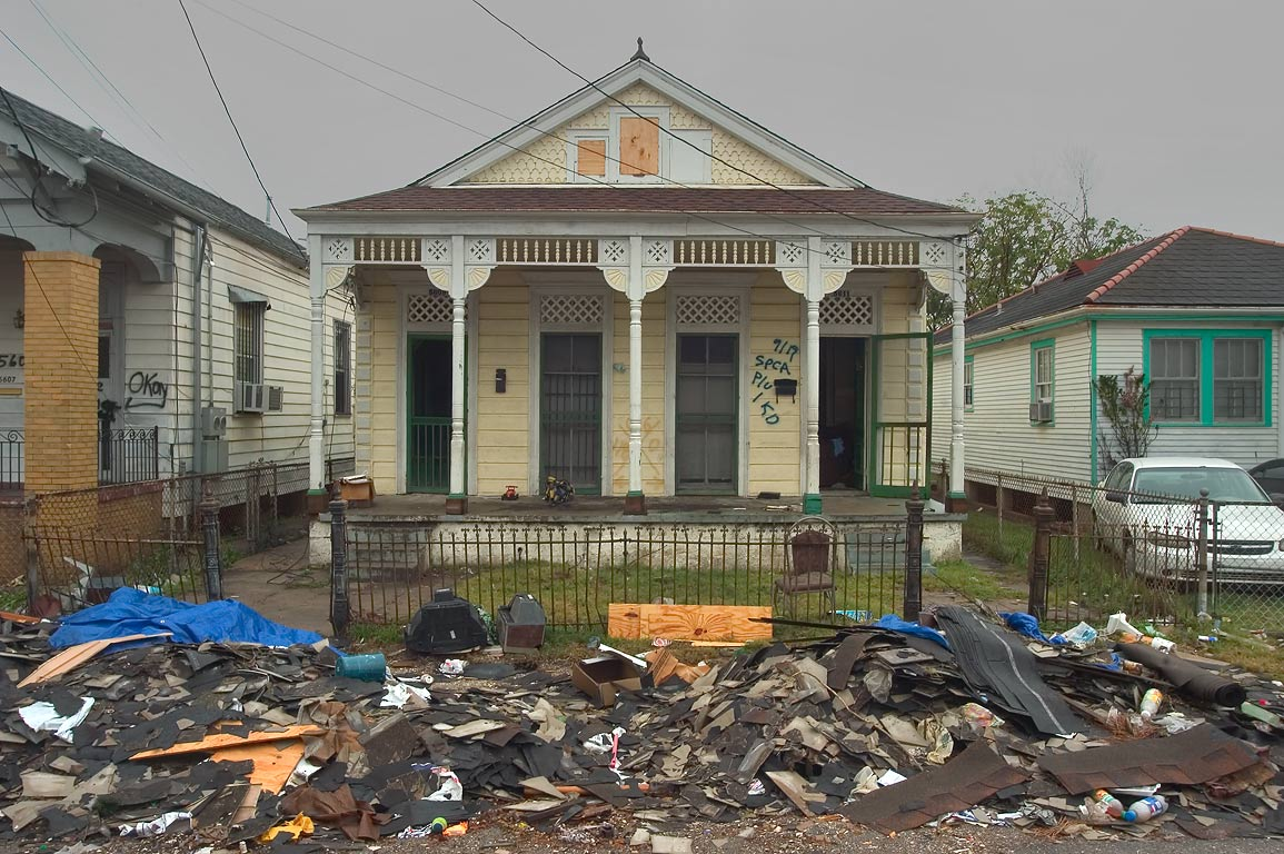A cleaned house near Royal and Flood streets in...neighborhood. New Orleans, Louisiana