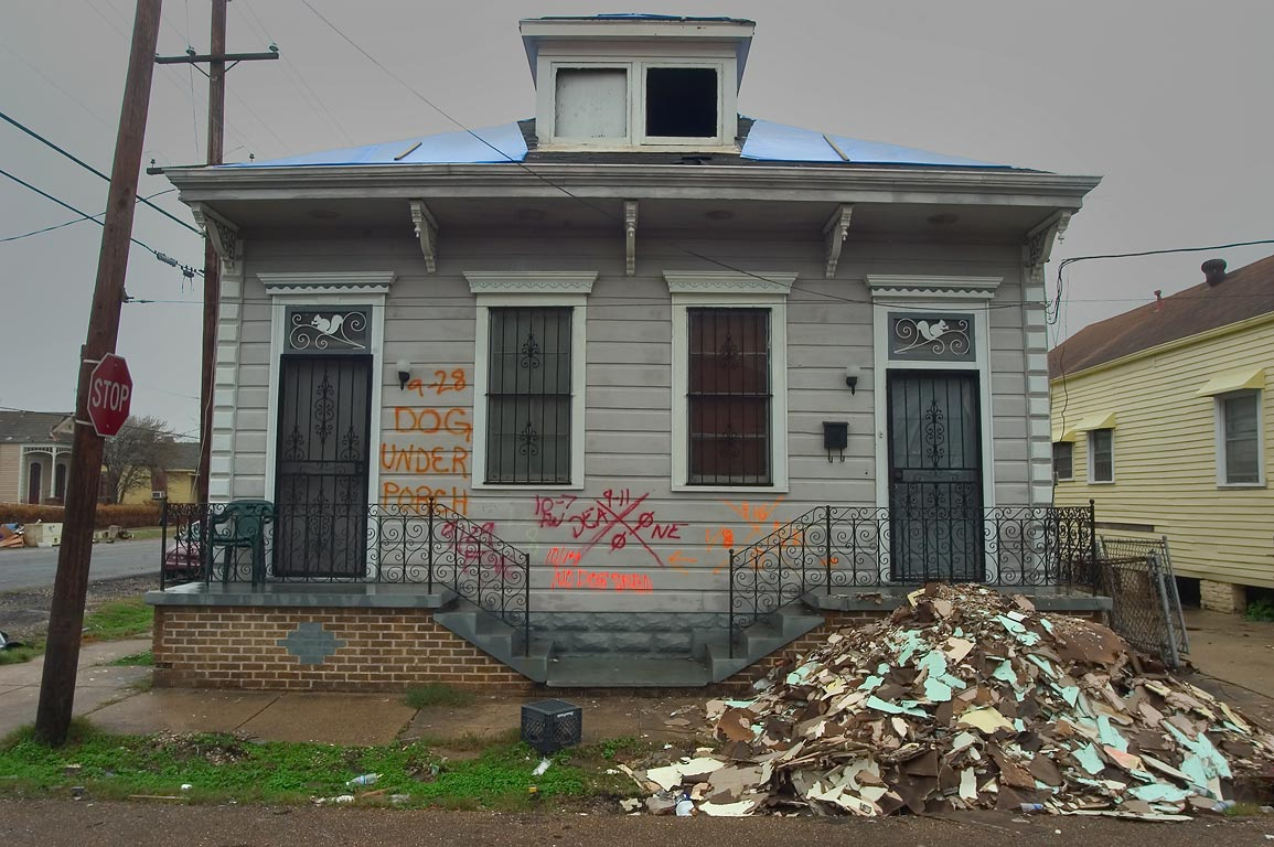A house at Flood St., with a controversy over...neighborhood. New Orleans, Louisiana
