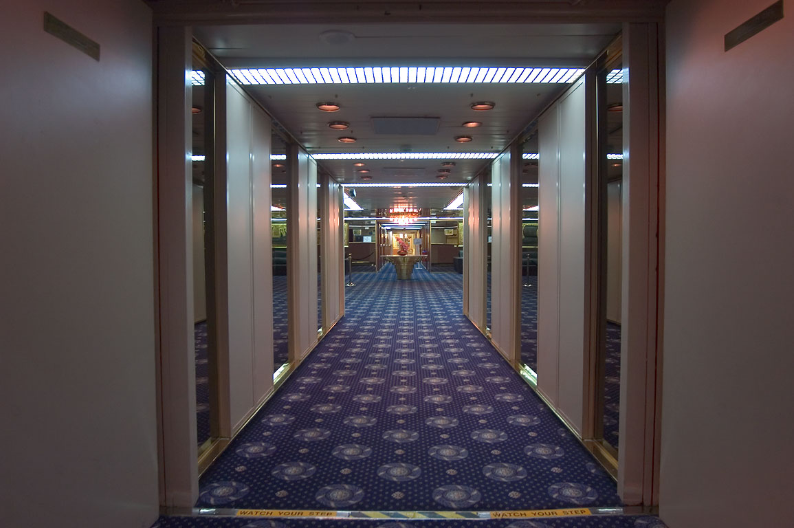 "Main deck corridor of cruise ship ""Dream Princess"". New Orleans, Louisiana"