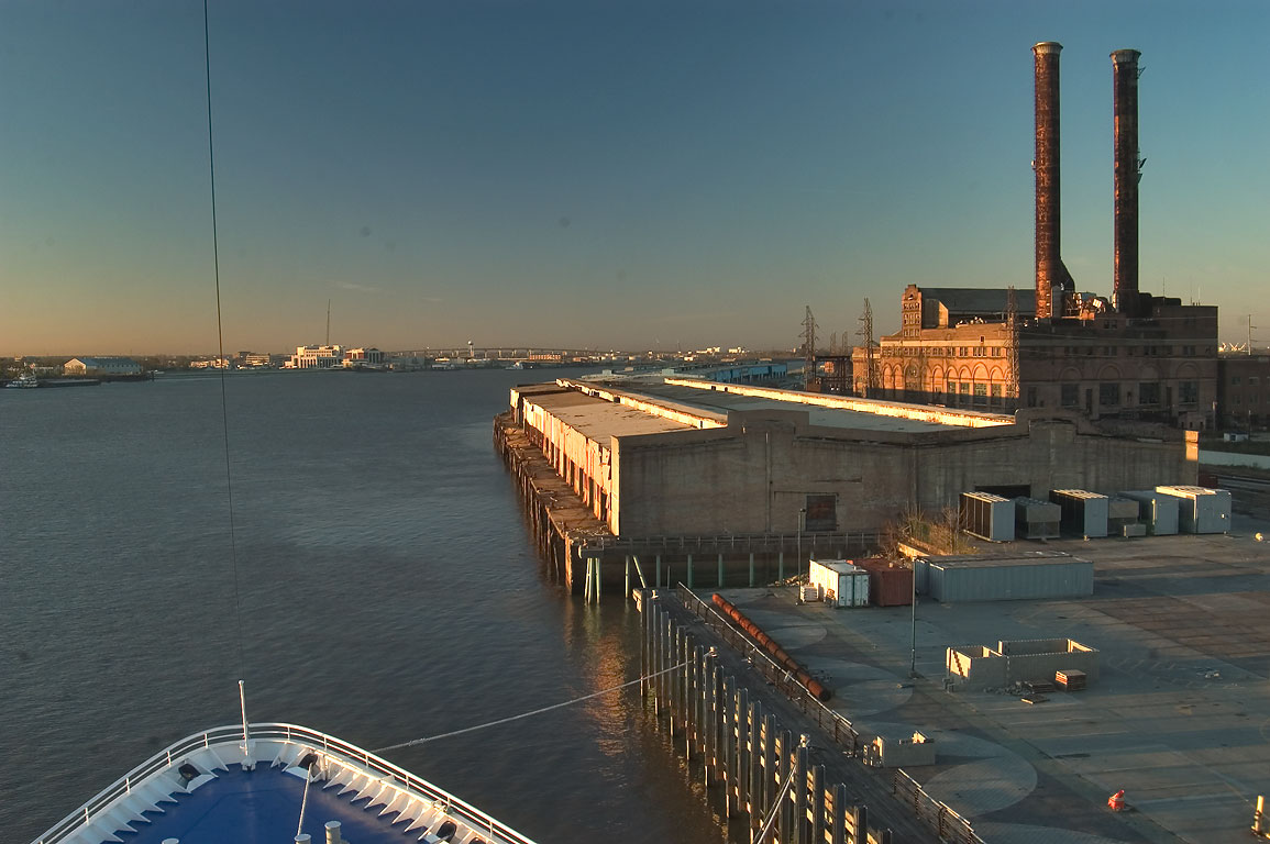 "Market St. Wharf and an abandoned plant, view...Princess"". New Orleans, Louisiana"