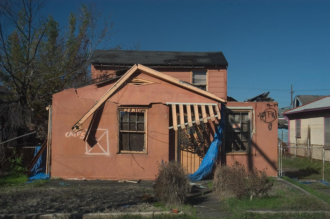A damaged house at 2430 Clouet St. near North...St. in Bywater. New Orleans, Louisiana