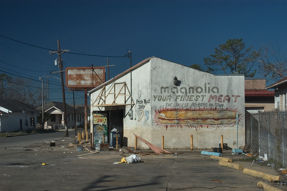 Magnolia meat shop at Desire St. and St.Claude Ave. in Bywater. New Orleans, Louisiana