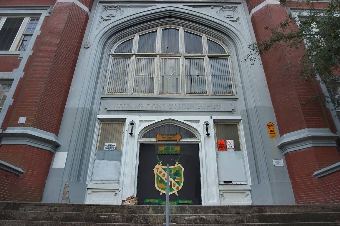 John McDonogh School at Esplanade Ave.. New Orleans, Louisiana
