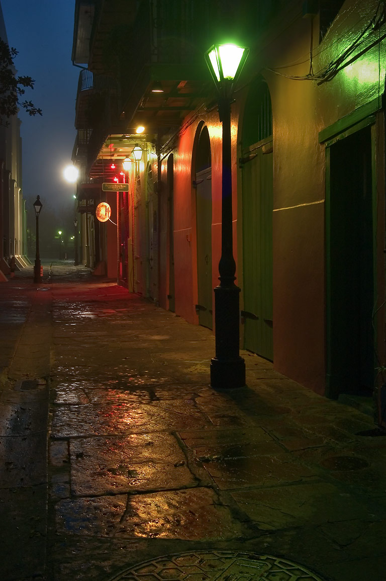 Pirates Alley, looking from Royal St. toward...at morning. New Orleans, Louisiana