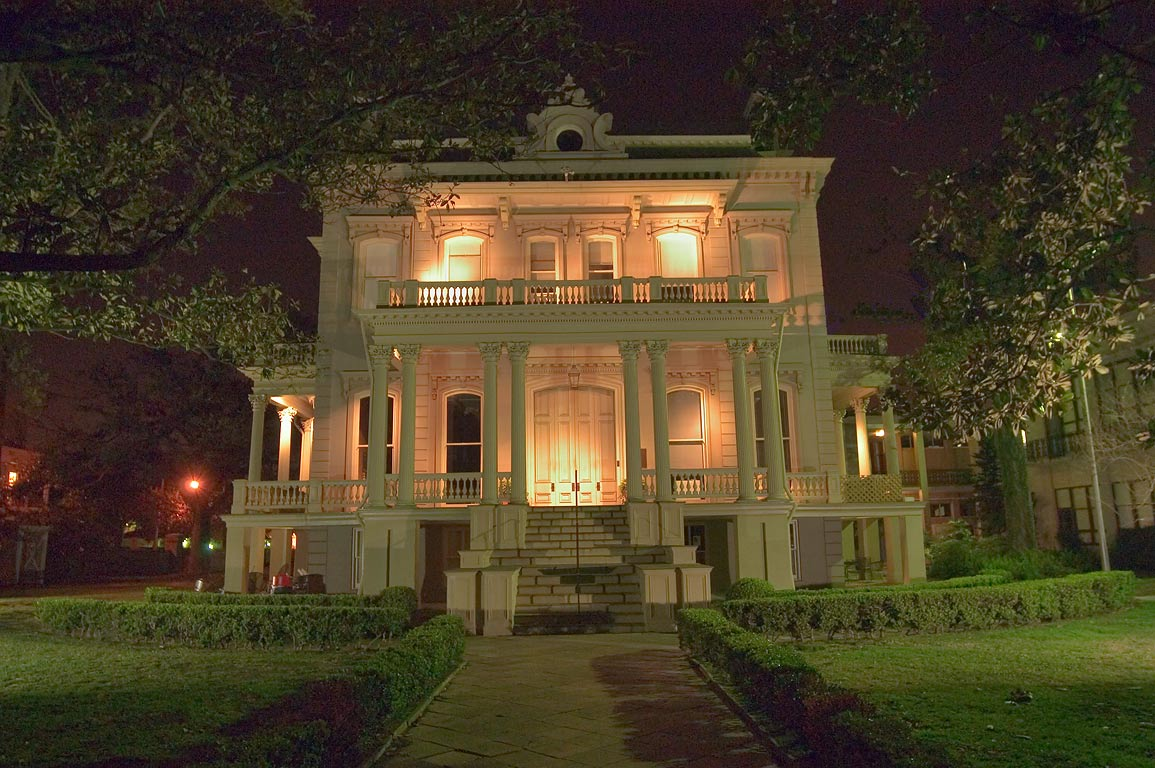 Bradish-Johnson House (McGehee School) (1872) at...at evening. New Orleans, Louisiana