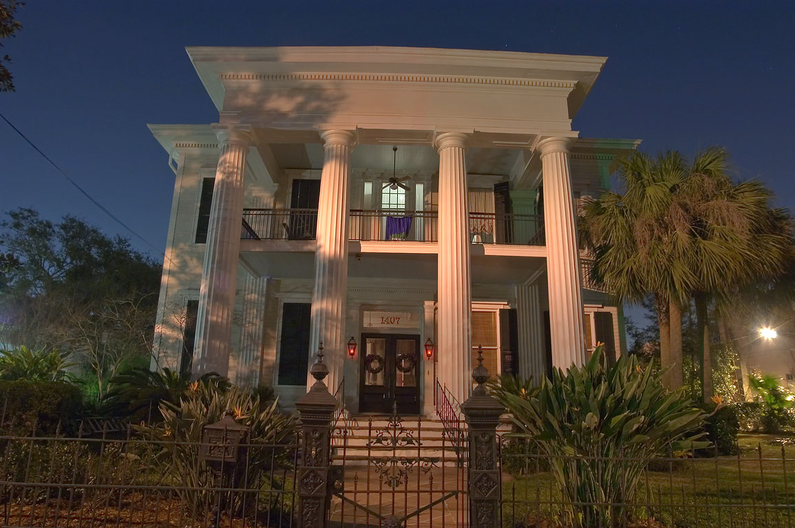 Pritchard-Pigott house at 1407 First St. in...at evening. New Orleans, Louisiana