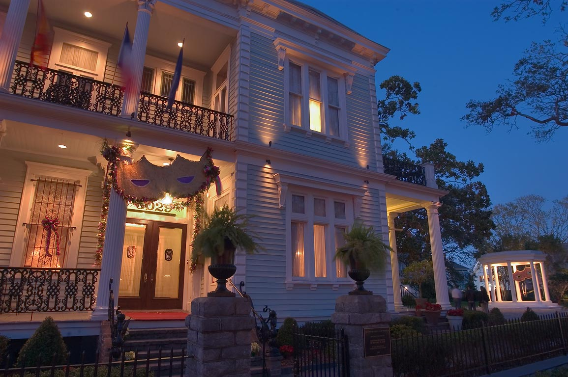 Van Benthuysen-Elms Mansion with a rotunda at...at evening. New Orleans, Louisiana