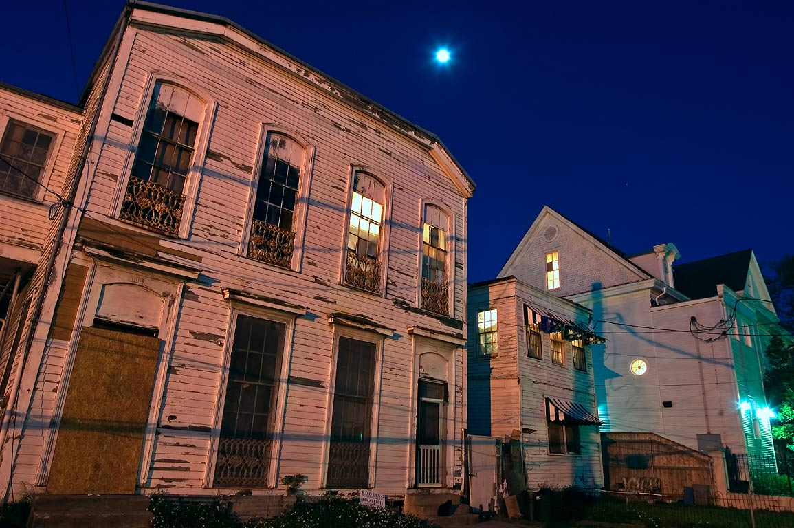Euterpe St. near St.Charles Ave. at evening. New Orleans, Louisiana
