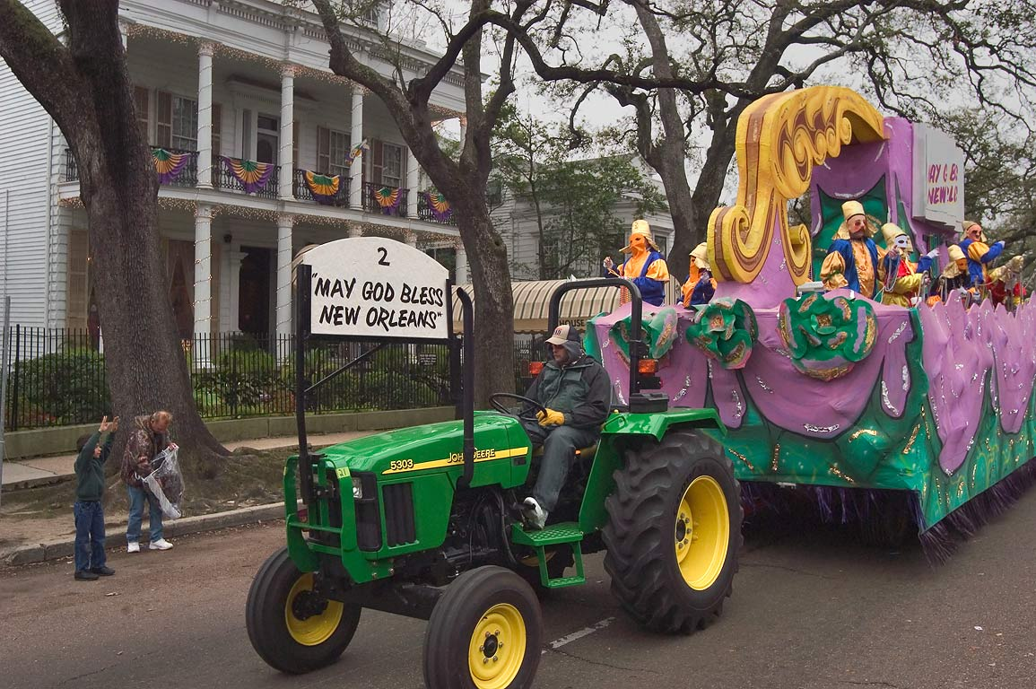 "Mardi Gras float No. 2 "" god bless New Orleans...District. New Orleans, Louisiana"