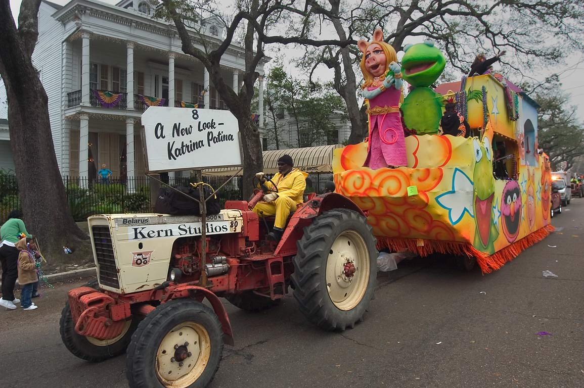 "Mardi Gras float No. 8 ""A new look-Katrina patina...District. New Orleans, Louisiana"