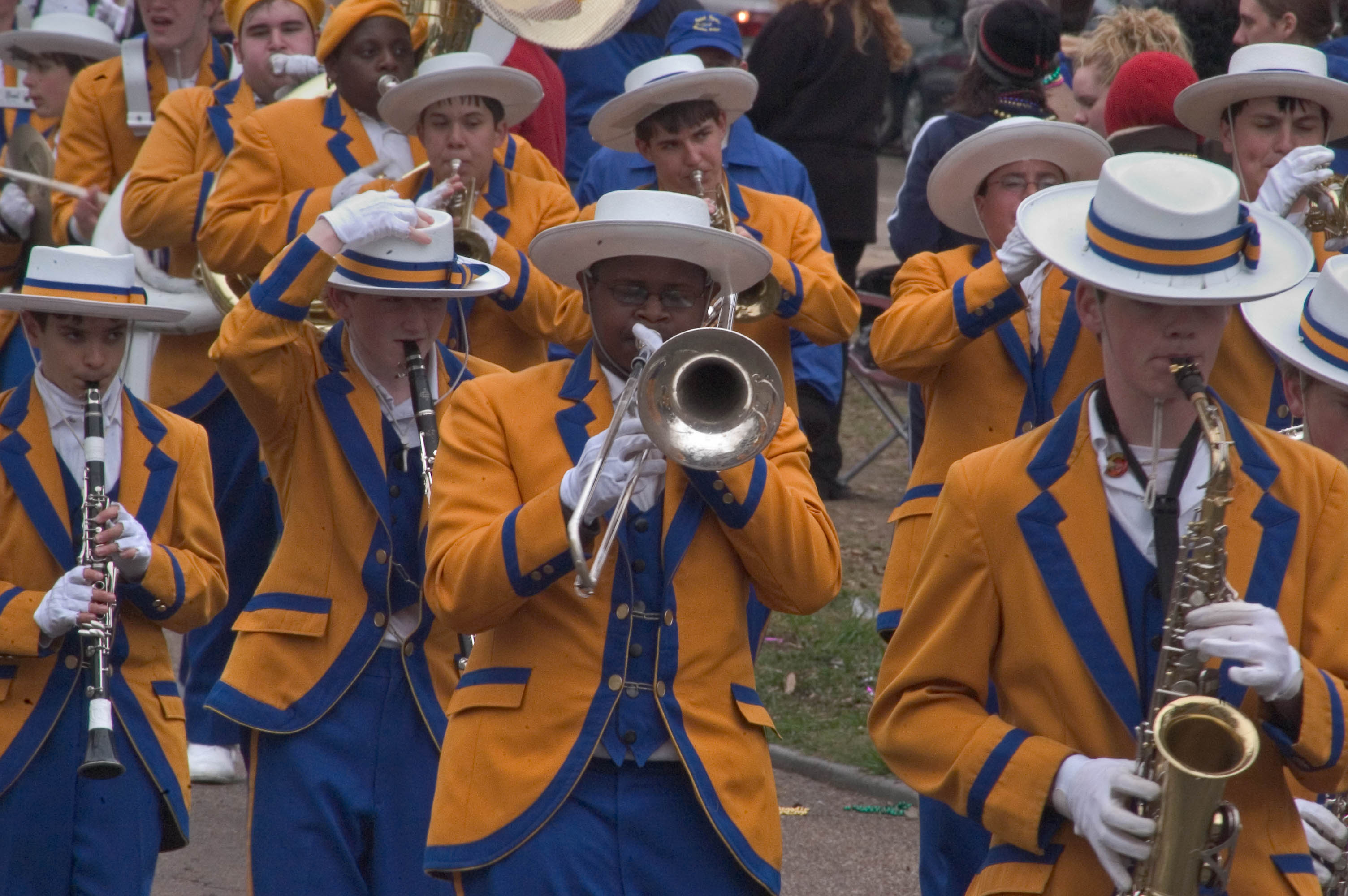 Photo 500-07: Marching band during Mardi Gras parade on St ...