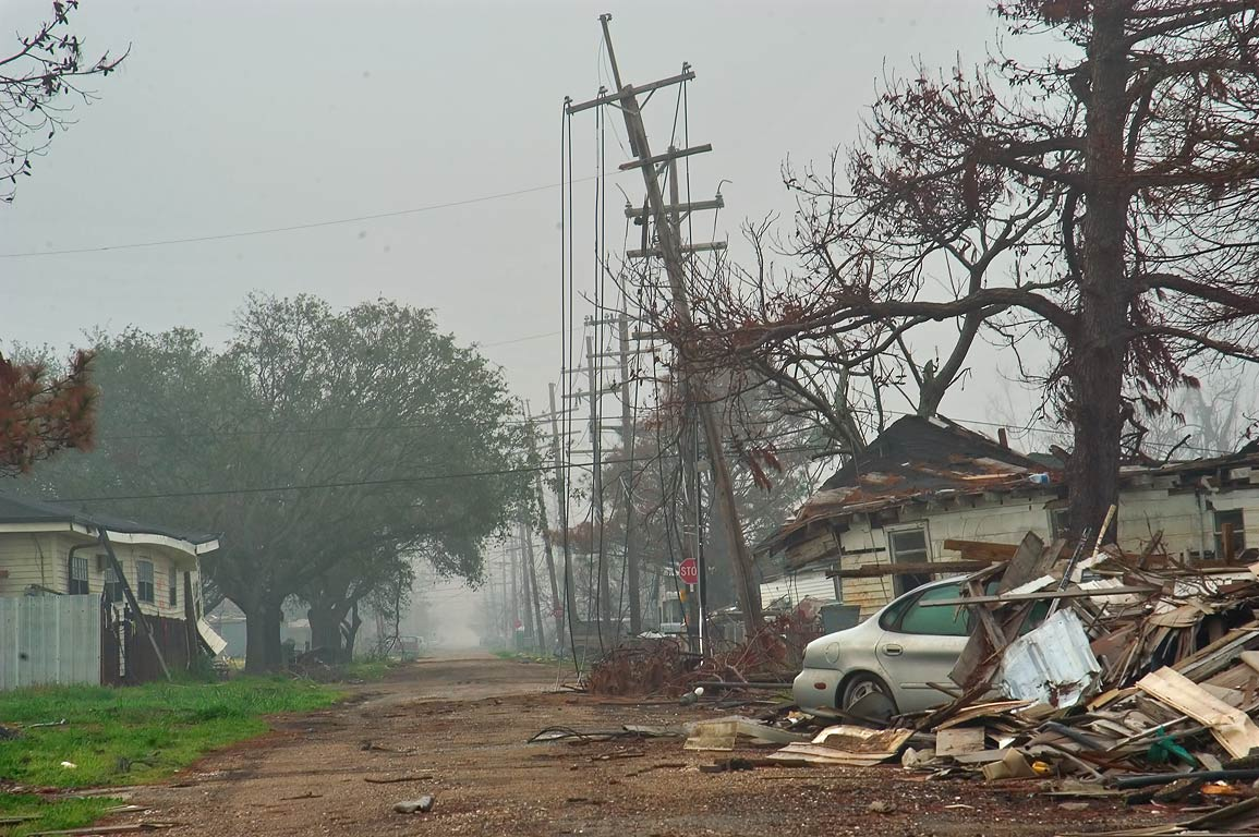 North Galvez Street in Lower Ninth Ward. New Orleans, Louisiana