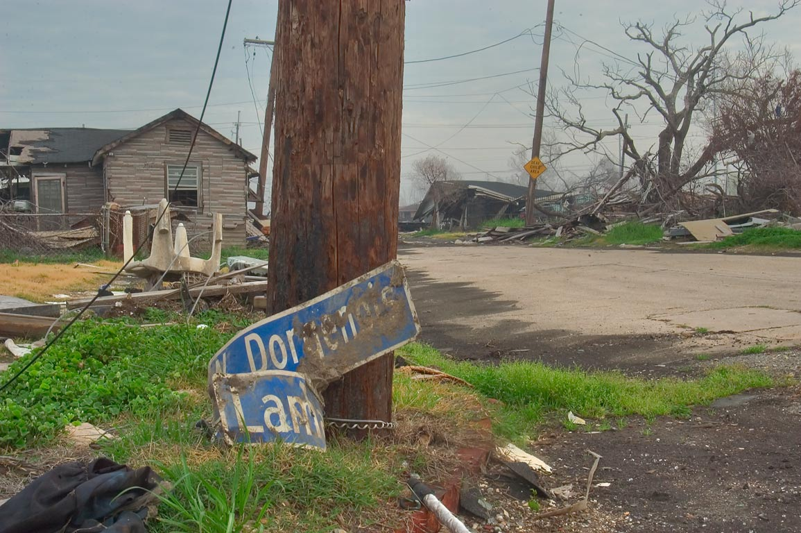 A corner of North Dorgenois and Lamanche streets...Ninth Ward. New Orleans, Louisiana