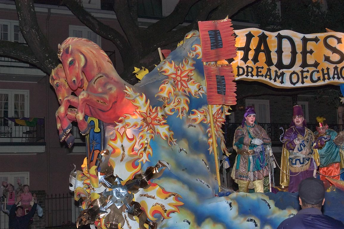 "Hades-a Dream of Chaos"" float at Mardi Gras...Charles Ave.. New Orleans, Louisiana"