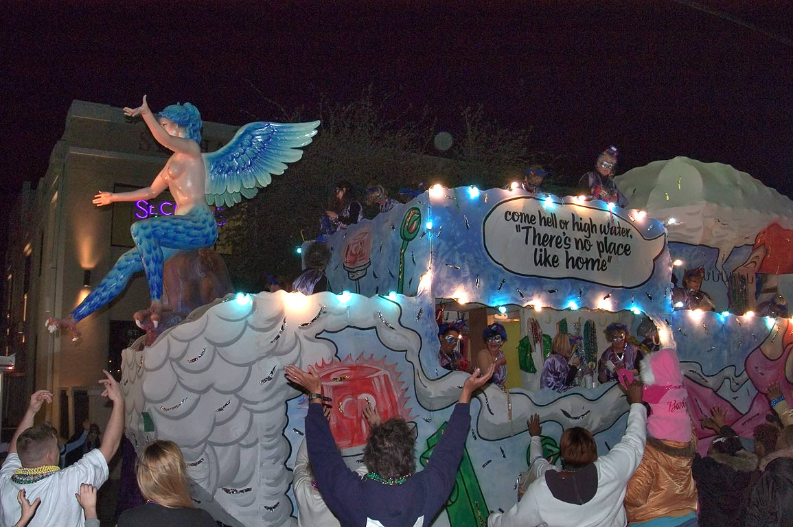 "There's no place like home"" float of krewe of...Charles Ave.. New Orleans, Louisiana"