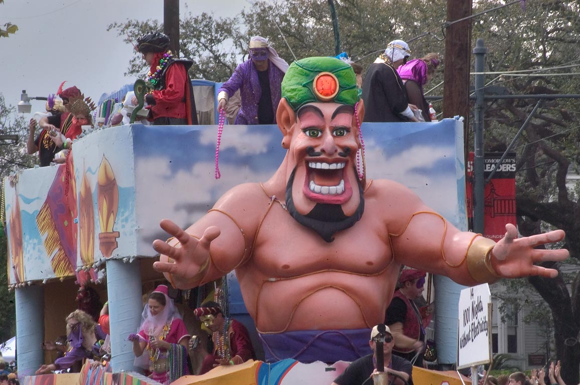"Mardi Gras float No. 14 ""1001 Nights without...Charles Ave.. New Orleans, Louisiana"