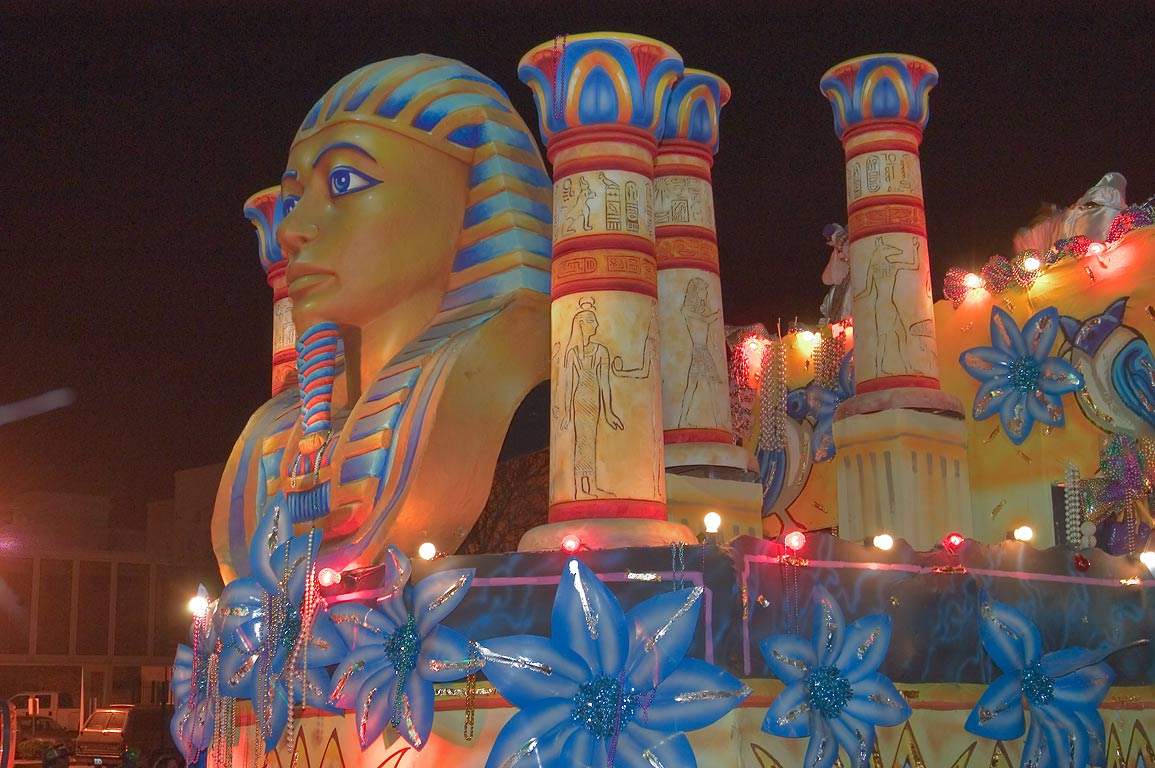 "Ancient Egypt"" float of krewe of Endymion at...Charles Ave.. New Orleans, Louisiana"