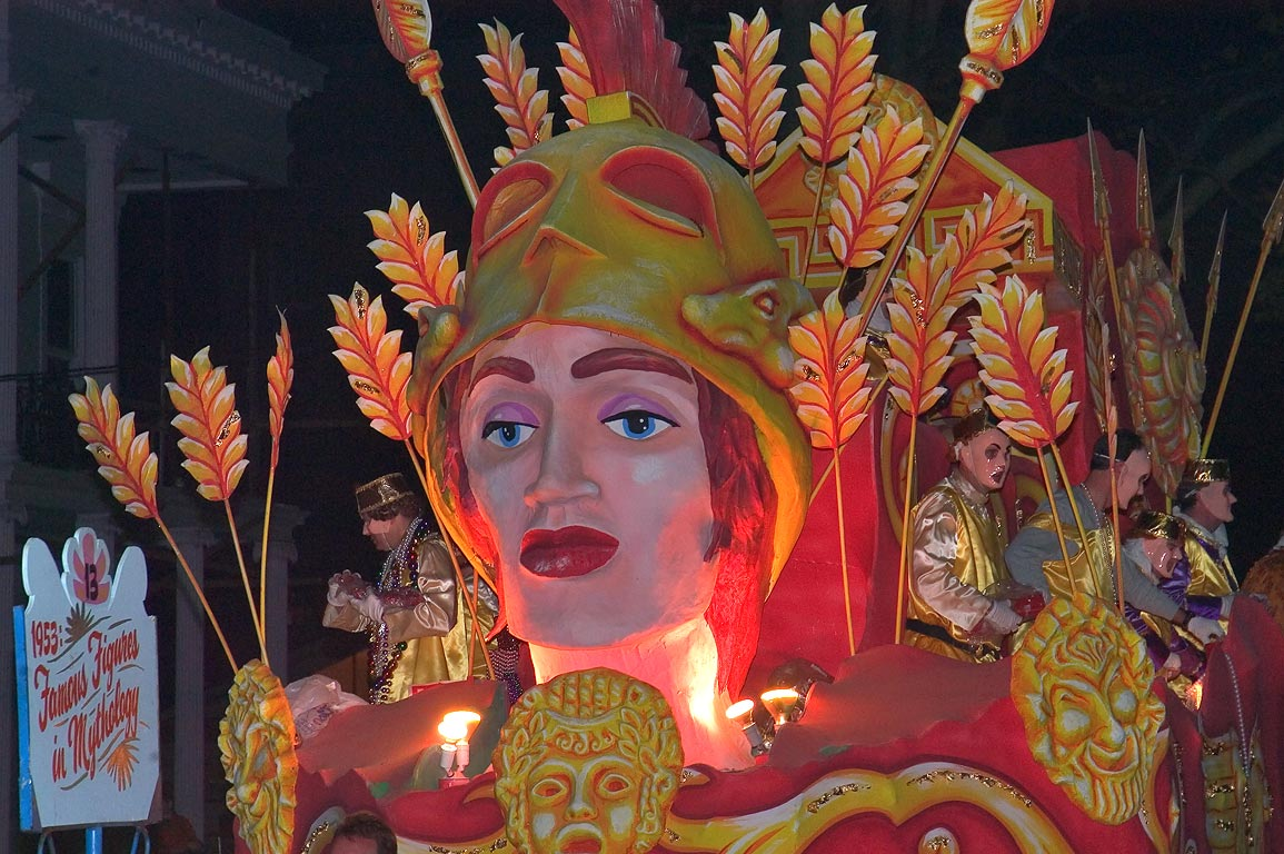 "Float No. 13 ""1953: Famous Figures in Mythology...Charles Ave.. New Orleans, Louisiana"