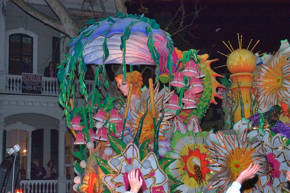 Helena float of krewe of Orpheus at Mardi Gras...Charles Ave.. New Orleans, Louisiana