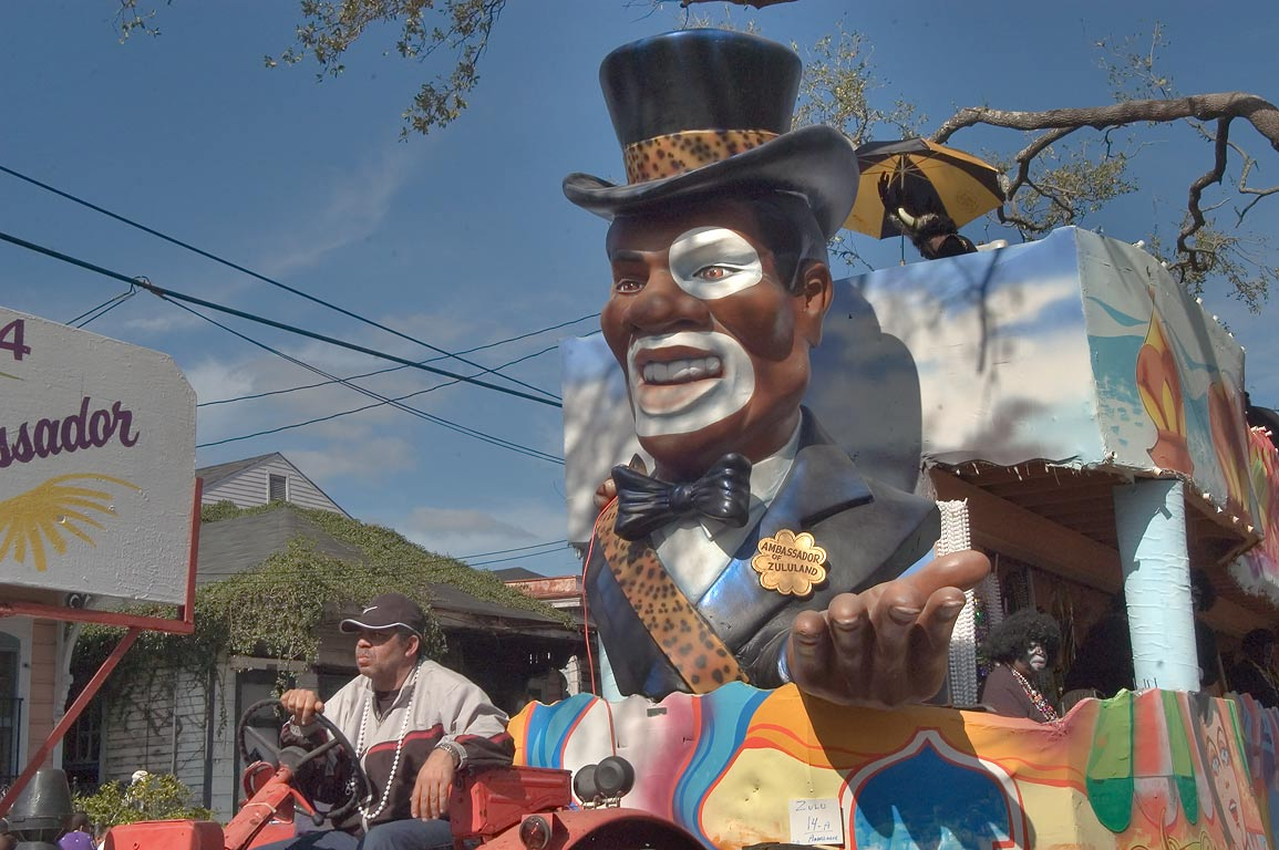 "Float No. 14 ""Ambassador"" at Mardi Gras parade of...Jackson Ave.. New Orleans, Louisiana"