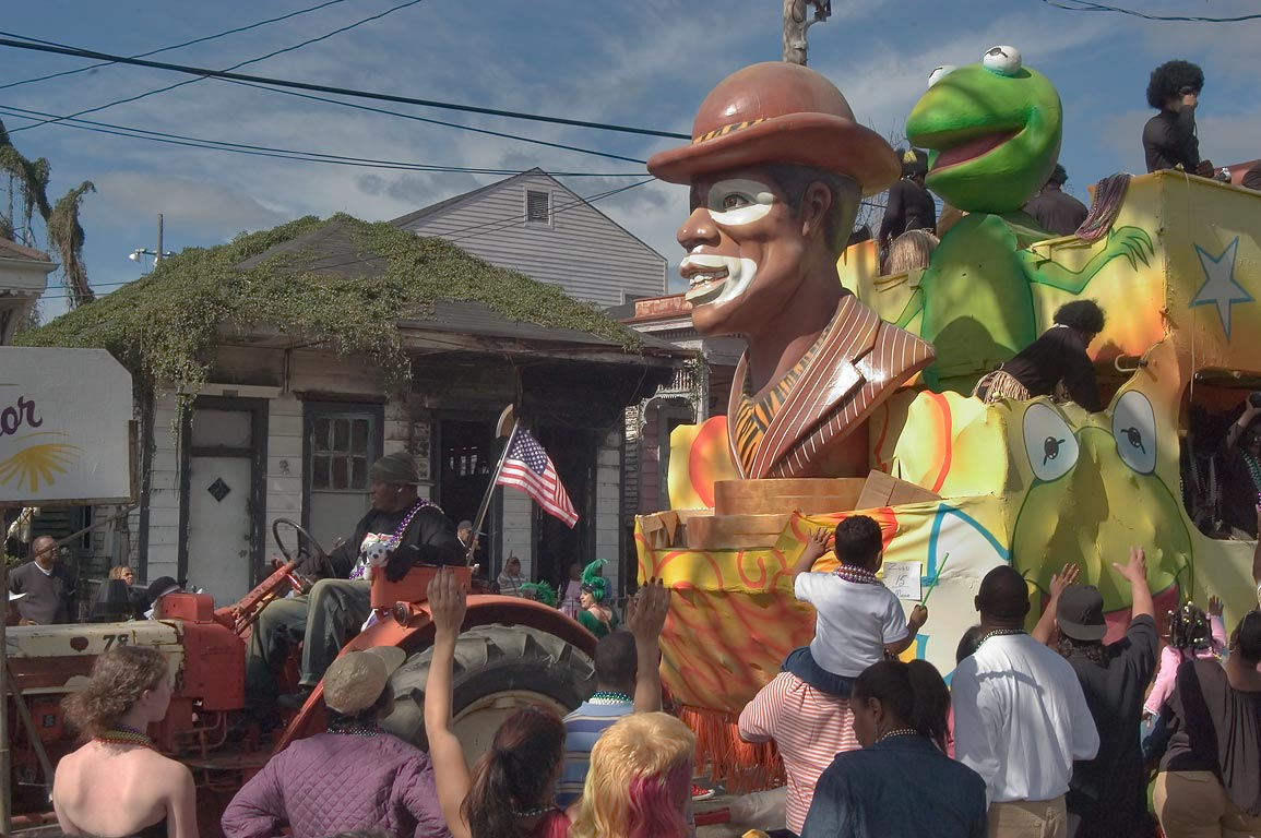 "Float No. 15 ""Ambassador"" at Mardi Gras parade of...Jackson Ave.. New Orleans, Louisiana"