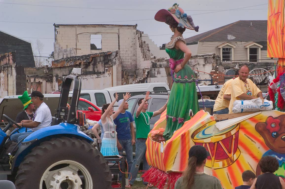 St.Patrick Day Parade on West Judge Perez Dr. in Chalmette. New Orleans, Louisiana