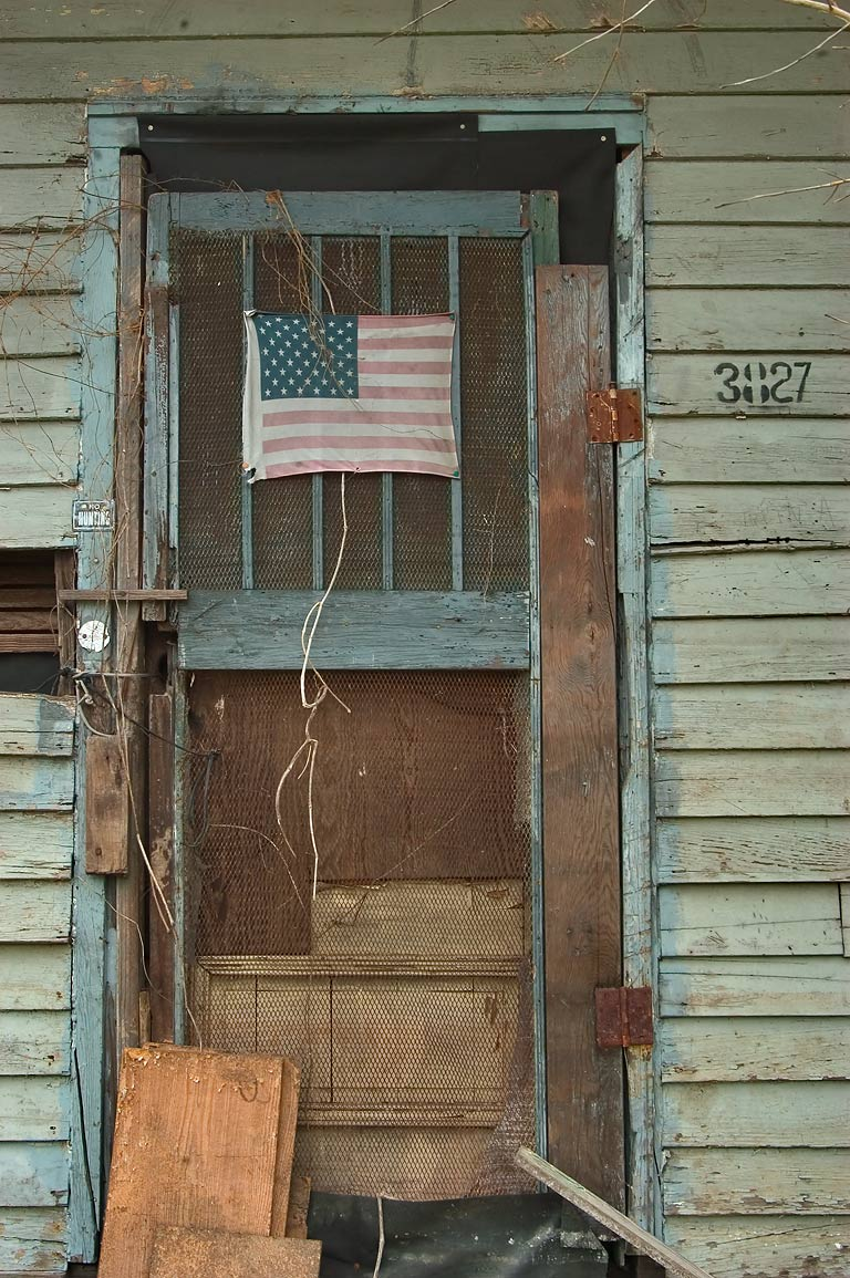 A doorway at 3827 Second St. near South Dorgenois...Central City. New Orleans, Louisiana