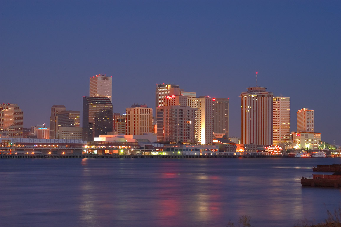 Business District across Mississippi River at...West Bank). New Orleans, Louisiana