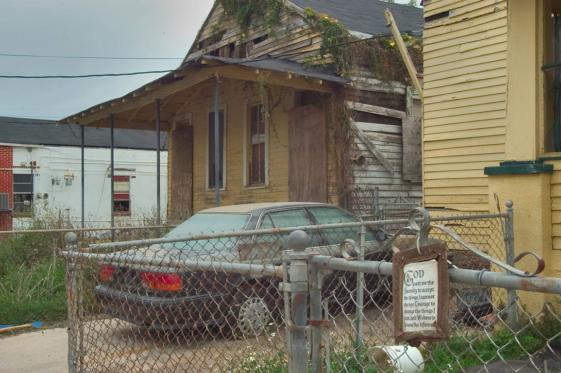 "A pray ""God grant me the serenity to accept the...neighborhood. New Orleans, Louisiana"