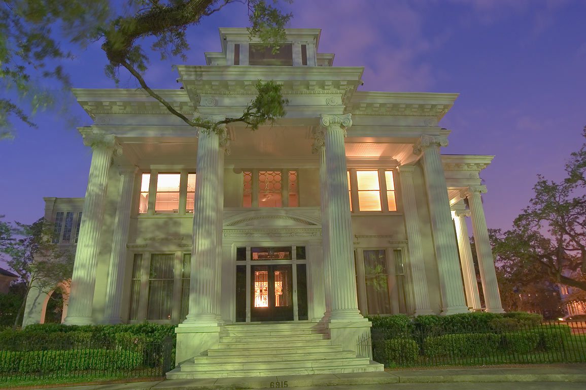 William T. Jay-Zemurray Mansion-Tulane President...at evening. New Orleans, Louisiana