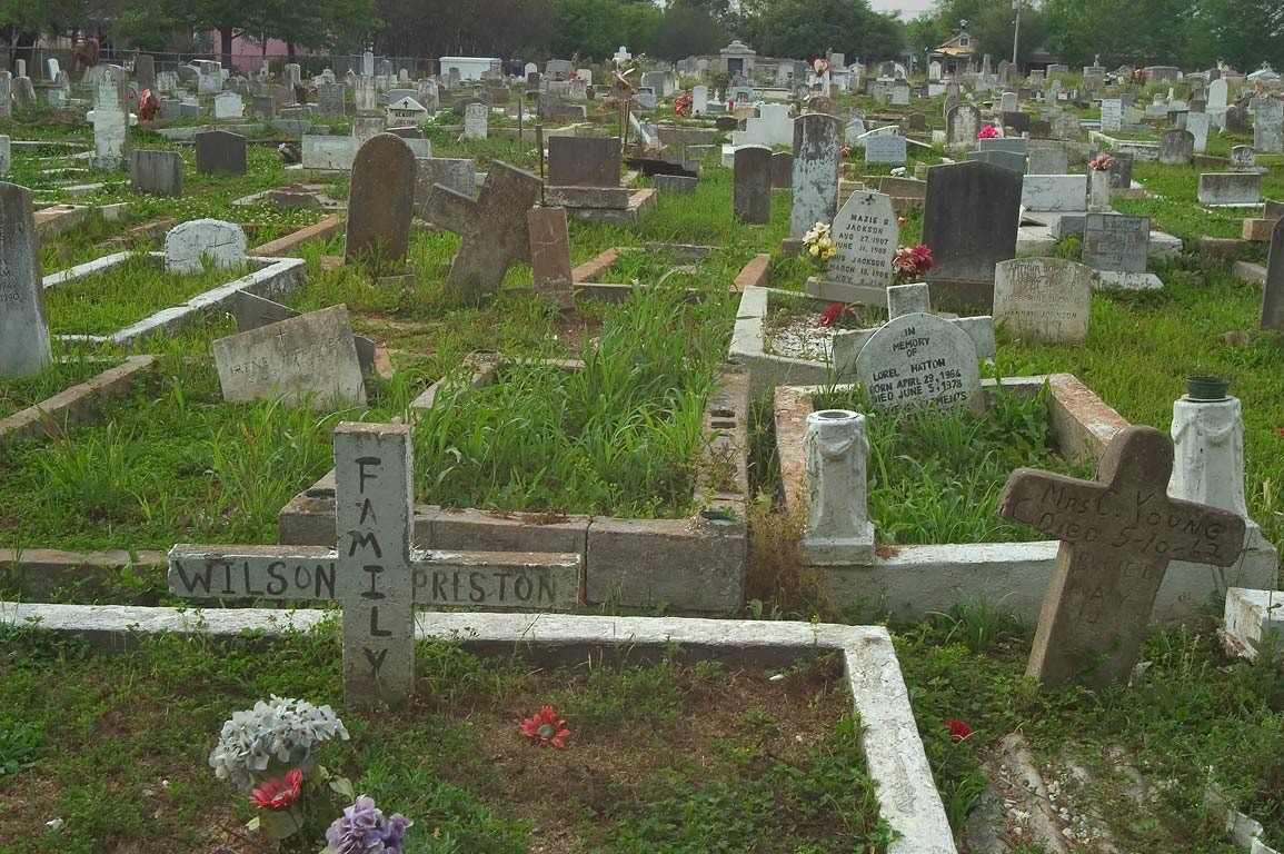 "Colored"" (negro) section of Carrollton Cemetery...Lowerline St.. New Orleans, Louisiana"