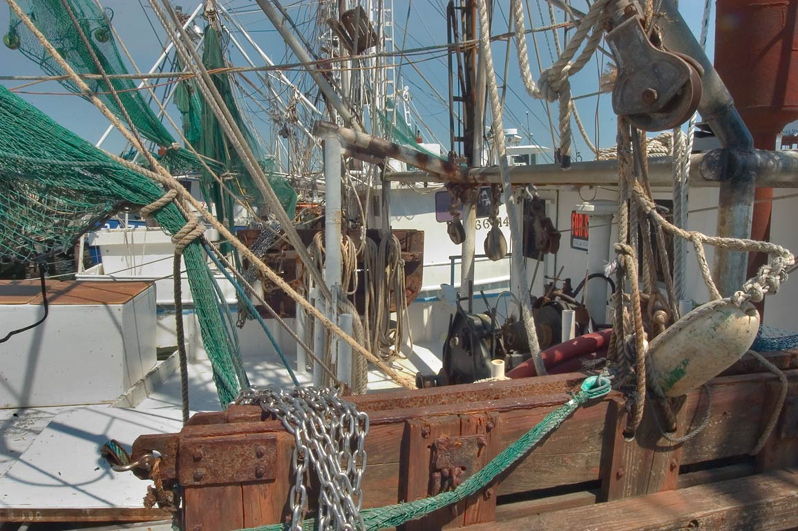 Fishing vessels in docks of Pass Christian. Mississippi