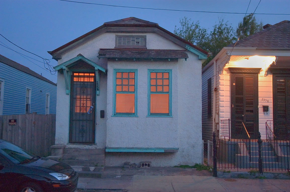 A house at 2354 Annunciation St. at evening, St.Thomas Development. New Orleans, Louisiana
