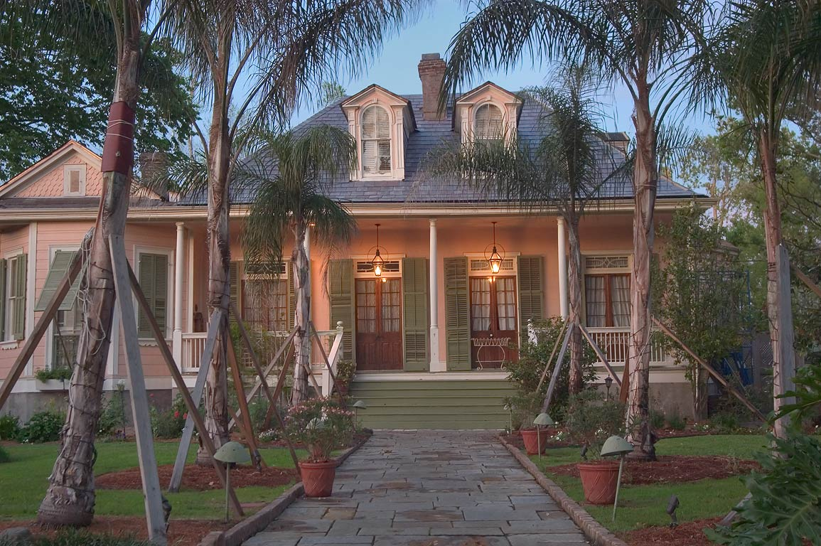 "Fleitas-Chauffe House, now ""Bed and breakfast inn...Esplanade Ave.. New Orleans, Louisiana"