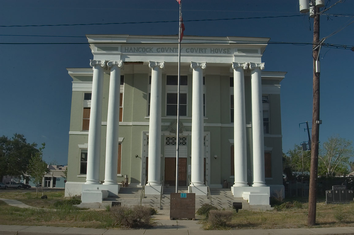Hancock County Court House on Main St. in Bay St.Louis. Mississippi