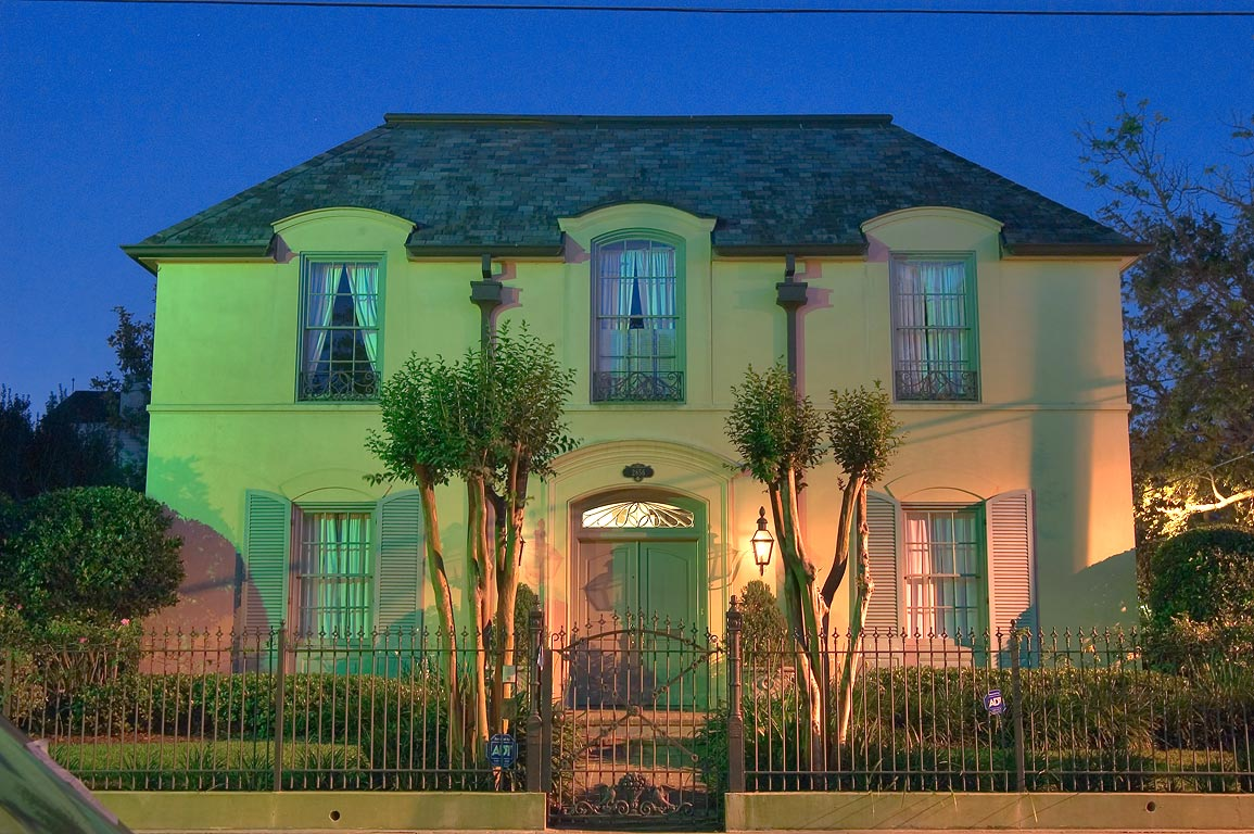A house at 2856 Camp St. near Sixth St. in Garden District. New Orleans, Louisiana