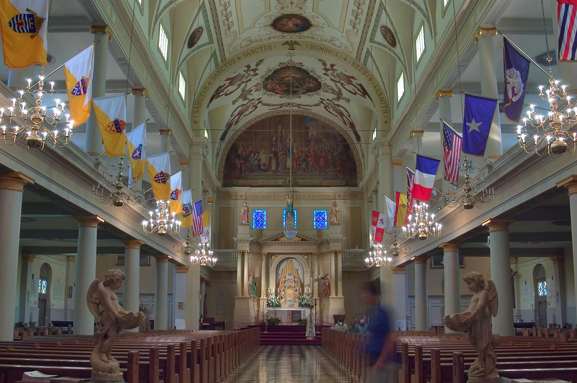 Interior of St.Louis Cathedral in French Quarter. New Orleans, Louisiana