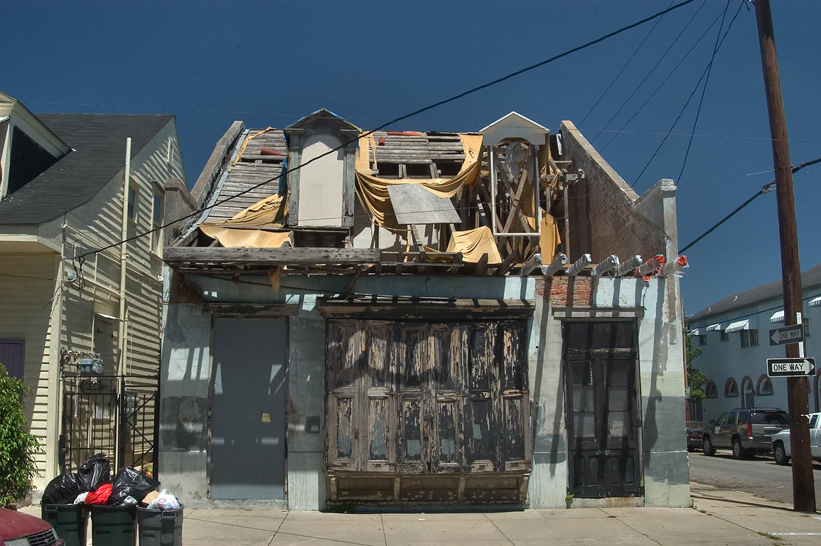 Carriage house at a corner of Governor Nicholls...in Treme. New Orleans, Louisiana