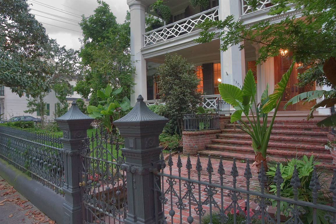 A mansion at 1304 First St., corner of Chestnut...District. New Orleans, Louisiana