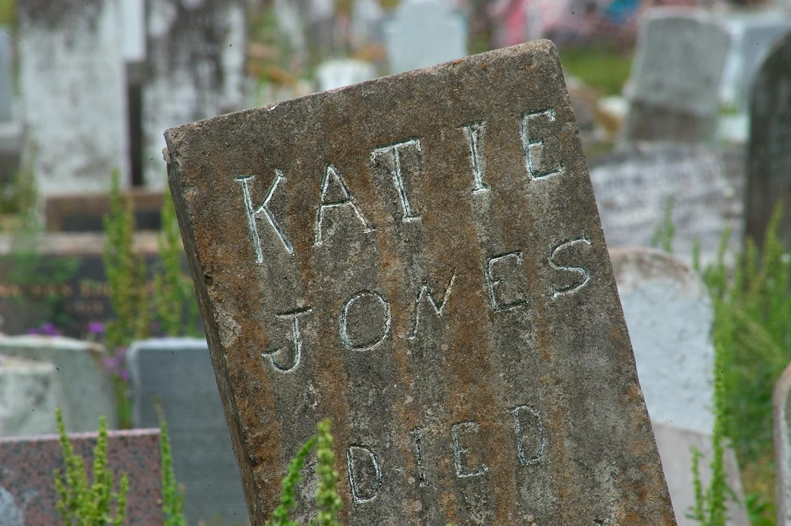 A tomb of Katie Jones in negro section of Carrollton Cemetery. New Orleans, Louisiana