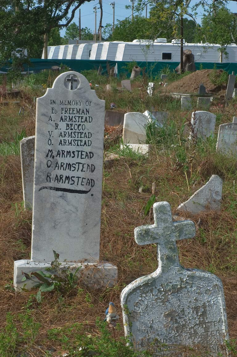 A tomb of E. Freeman, A. Armstead, R. Becco, and...Holt Cemetery. New Orleans, Louisiana