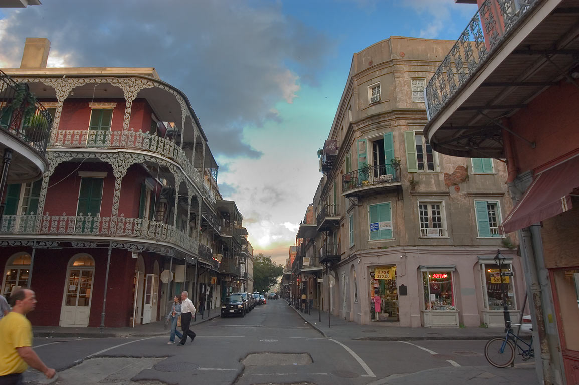 A corner of St.Peter and Royal streets in French...on the right. New Orleans, Louisiana
