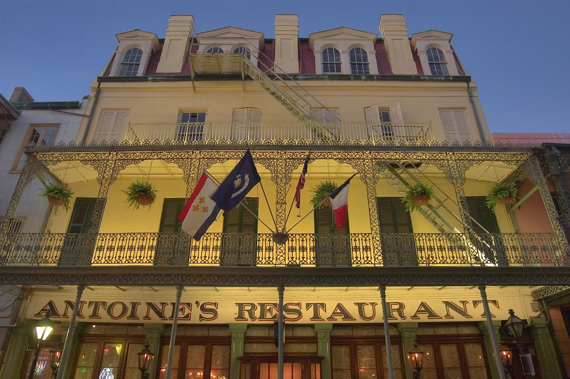Antoine's Restaurant at 713 St.Louis St. in French Quarter. New Orleans, Louisiana