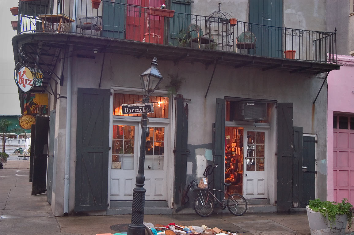 A cafe at a corner of Barracks and Decatur...French Quarter. New Orleans, Louisiana